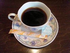お食事処とんかつ心食後のコーヒー