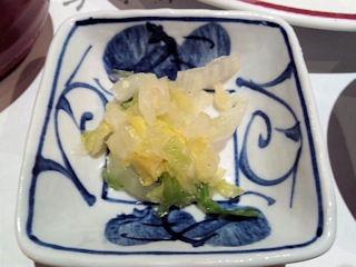 がんこ加古川店かきフライ定食のお漬物