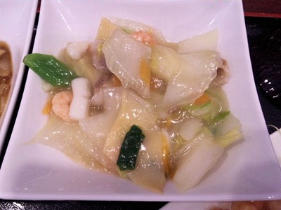 中華料理天津閣中華セットの八宝菜