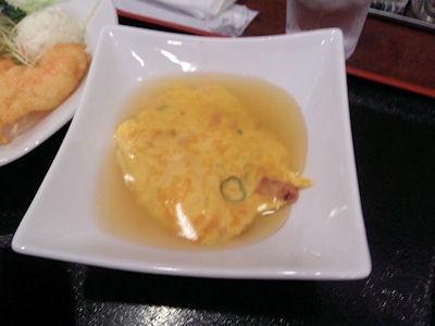 中華料理天津閣日替りランチのエビ玉