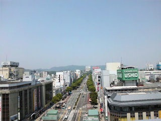 JR姫路駅ビル「ピオレ姫路」屋上から見た景色