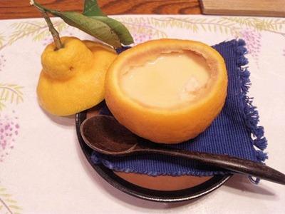 生州割烹輝髙三宝柑の茶碗蒸し