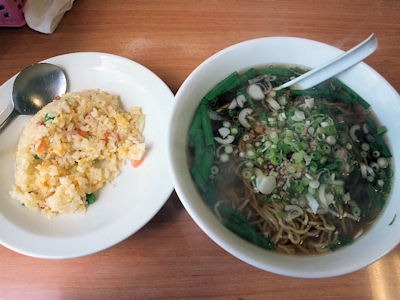 中国食坊菜香ラーメンセット(台湾ラーメン 五目チャーハン)