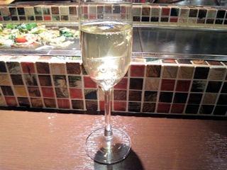 お好み焼き京ちゃばな/スパークリングワイン