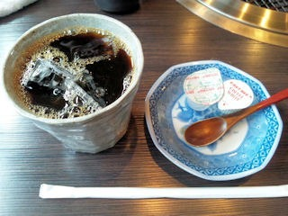 炭火焼肉みきや日替りサービス(ミンチカツ)定食