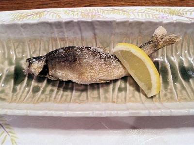 生州割烹輝髙鮎の塩焼き