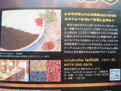 手作りカレー&コーヒーのお店『Ladhidh ラジーズ』