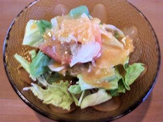 kitchenKATO贅沢コースのサラダ