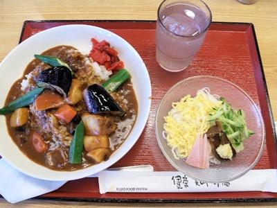 加古川北在家食堂夏野菜カレーとそうめん
