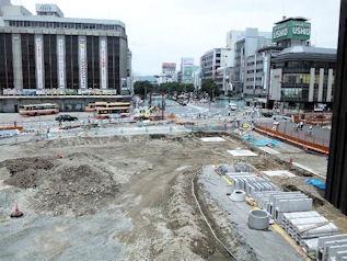 姫路新駅ビル姫路城展望用デッキ