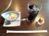 レストラン千成亭懐石風ランチ食後のドリンクとデザート