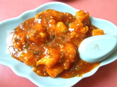 中華料理楓林えびのチリソース煮