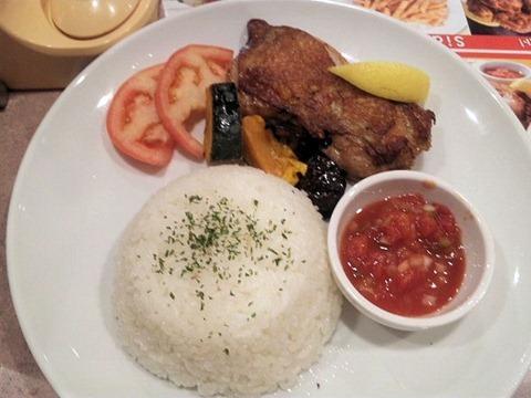 ガスト若鶏の秘伝スパイスグリルと夏野菜のシンガポールカレー