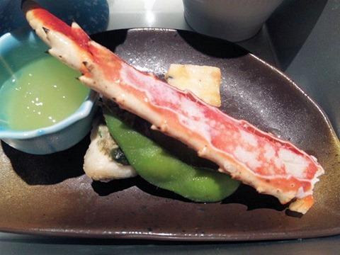 香住漁港和平タラバ蟹ステーキ御膳前菜