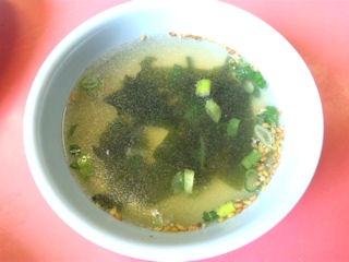 中華料理楓林焼めしのスープ
