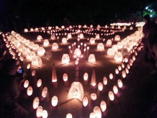 たかさご万灯祭2013願いの灯りの会場