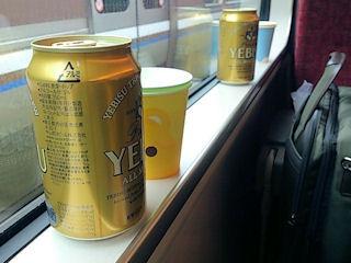 蟹ツアー特急はまかぜ列車内