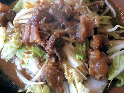 カレーハウスインディアン牛すじと白菜のカレー