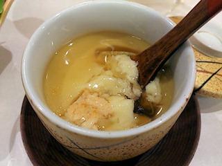 和ごころ万彩山海ちゃんこコースの茶碗蒸し