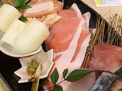 和ごころ万彩山海ちゃんこコースの豚肉