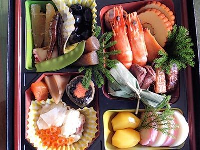 2014年元旦の日の集いの料理おせち料理