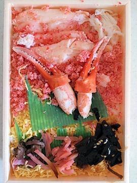 名物わっかない弁当たらば蟹と紅ずわい蟹の弁当