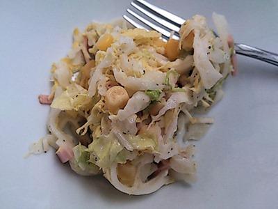 欧風カレー小夢白菜のコールスロー