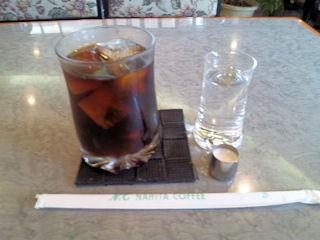 ぴっけるサービスランチ食後のアイスコーヒー