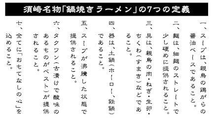 須崎名物「鍋焼きラーメン」の7つの定義