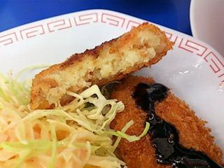 ラーメン来来亭明石西インター店コロッケ定食