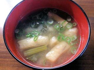 焼肉酒場BANGカルビ丼の味噌汁