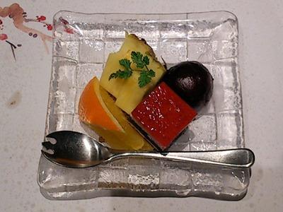湯めぐりの宿松の家花泉季節会席水物デザート盛り合わせ