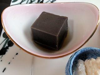 大黒天健康と美容の為の2月の昼会席八寸黒胡麻豆腐