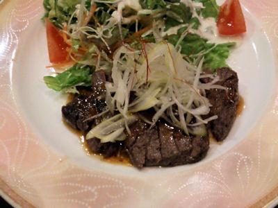 月の庵明石店宴会特選牛のステーキ