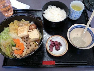 中国自動車道勝央SAレストランそずり鍋