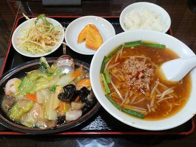 台湾料理金香どう日替りランチ