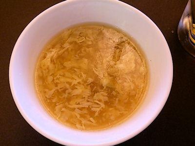 中国レストラン海螢ランチオーダーバイキング本日のスープ