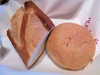 カジュアルダイニング『リヴィエール』日替りランチのパン