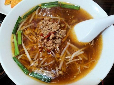 台湾料理金香どう日替りランチの台湾ラーメン