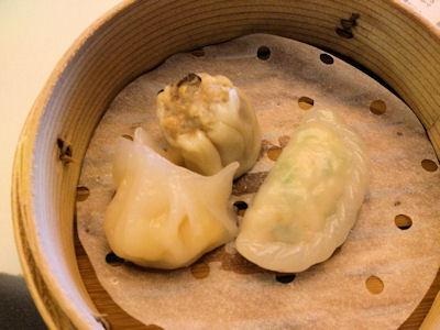 中国レストラン海螢ランチオーダーバイキング飲茶3種盛り合わせ