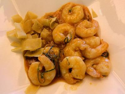 中国レストラン海螢ランチオーダーバイキング海老のチリソース煮