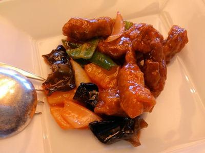 中国レストラン海螢ランチオーダーバイキング広東風酢豚