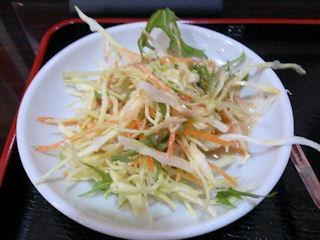 台湾料理金香どう日替りランチのサラダ