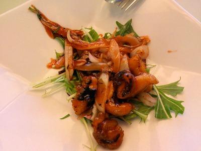 中国レストラン海螢ランチオーダーバイキングタコのマンゴーチリソース炒め