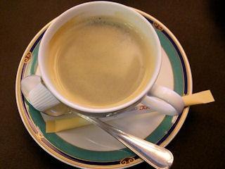 中国レストラン海螢ランチオーダーバイキング食後のコーヒー