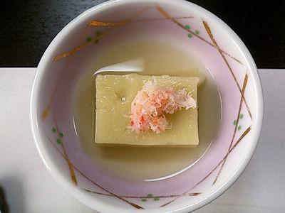 大黒天健康と美容の為の3月の昼会席枝豆豆腐