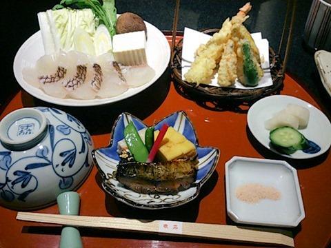 日本料理赤石鯛御膳
