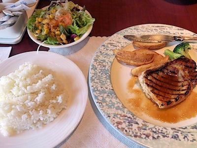 リヴィエールポークロース肉のグリル和風ソース