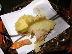 日本料理赤石鯛御膳の天婦羅