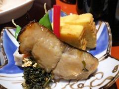 日本料理赤石鯛御膳の口取り